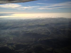 Llegando a casa la nieba pierde densidad